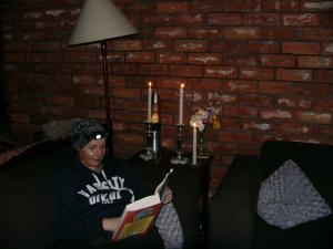 Aunty reading.