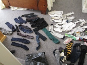 See all the single socks mummy has collected over the years.
