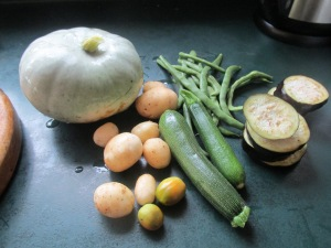 Vegetables for a summer Thai curry
