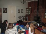 With it being so cold, none of the teenagers wanted to sleep out in the cold woolshed, so they all came inside!!!