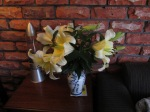 However, her Christmas lillies have done very well.  Mainly due to all the watering they have received.